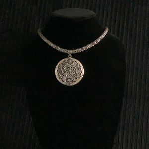 925 Silver Medallion Necklace